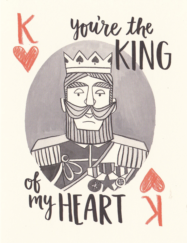 One Canoe Two Greeting Card: King of My Heart