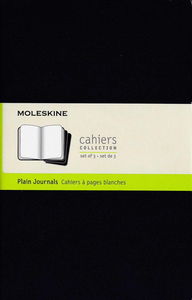 Moleskine Cahier Notebook Set of 3: Large: Plain: Black