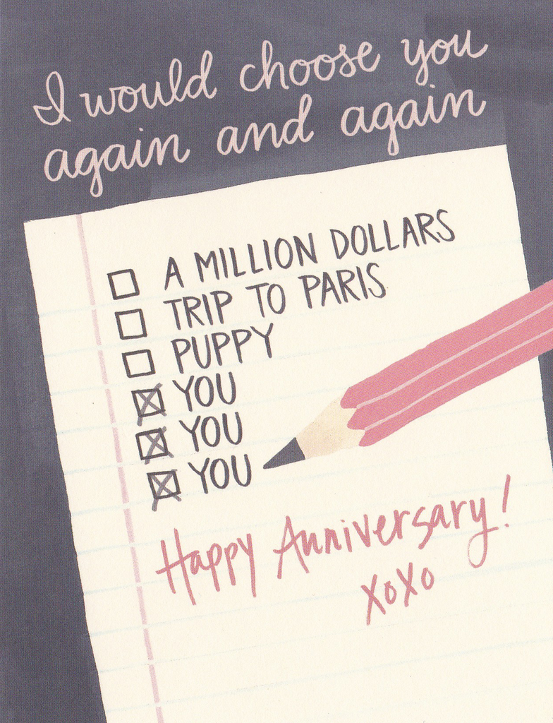 One Canoe Two Greeting Card: Anniversary Note