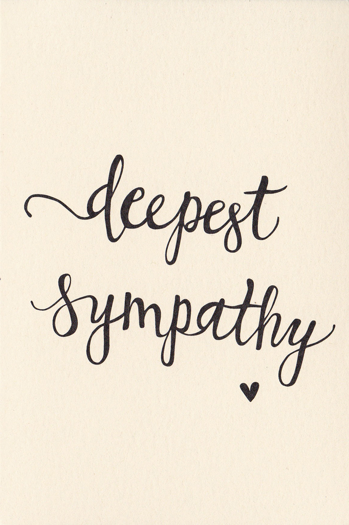 An April Idea Greeting Card: Deepest Sympathy