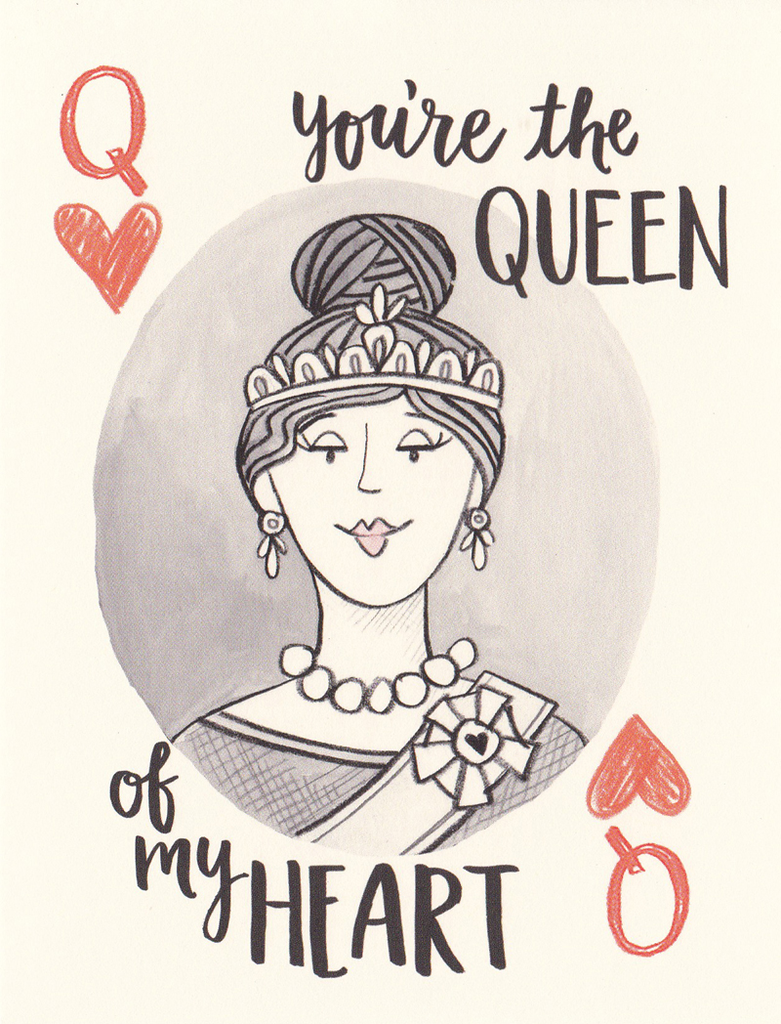 One Canoe Two Greeting Card: Queen of My Heart