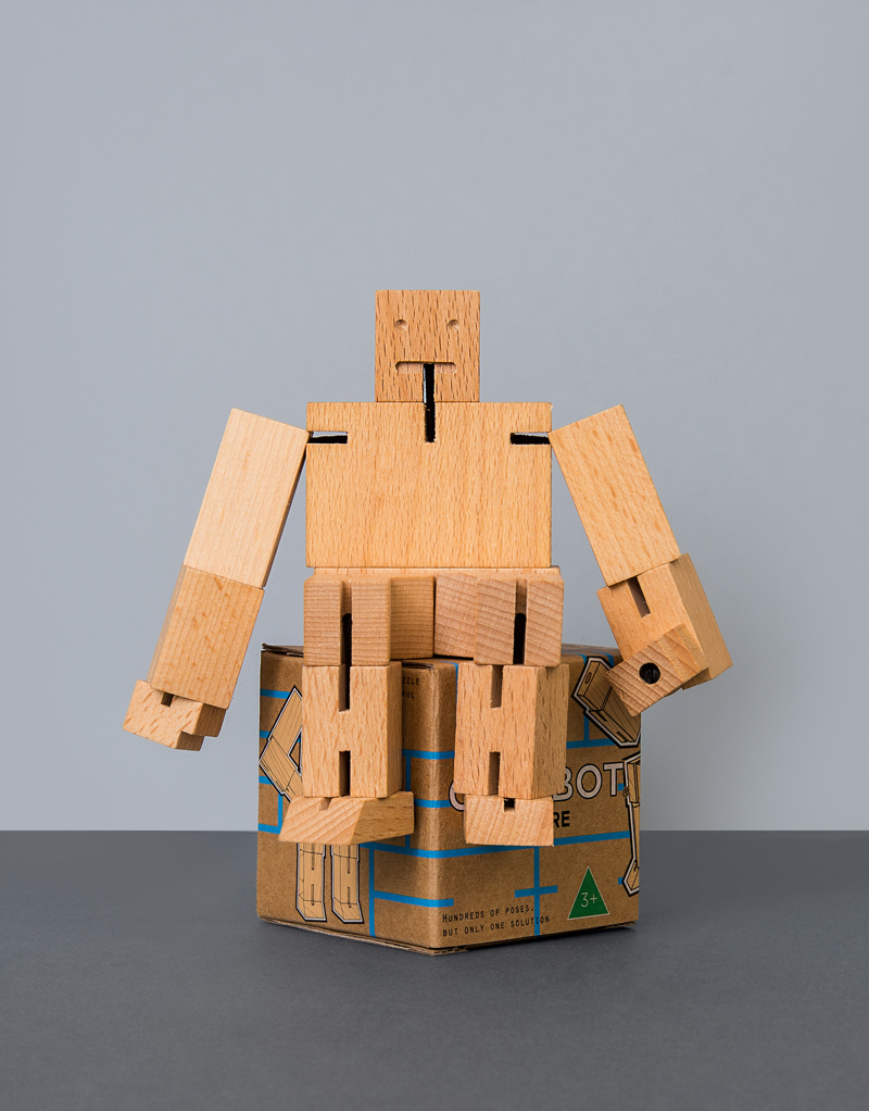 Cubebot Small: Natural (Beech)