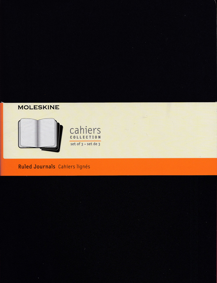 Moleskine Cahier Notebook Set of 3: XLarge: Ruled: Black