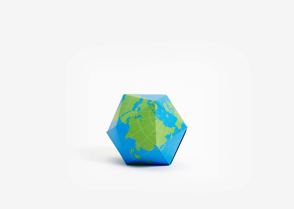 Areaware: Dymaxion Folding Globe: Blue