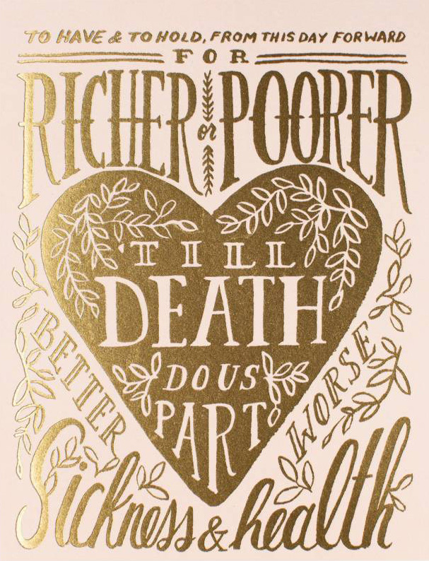 Rifle Paper Co. Greeting Card: Till Death Do Us Part