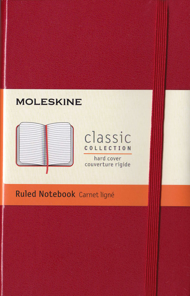 Moleskine Classic Hard Cover Notebook: Pocket: Ruled: Red
