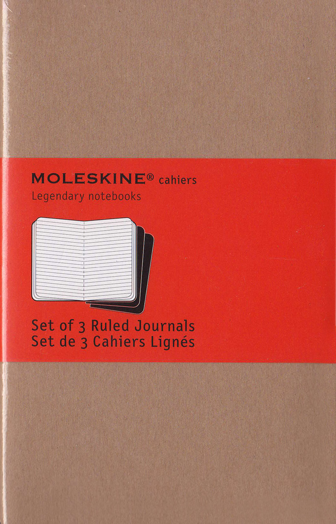 Moleskine Cahier Notebook Set of 3: Pocket: Ruled: Kraft