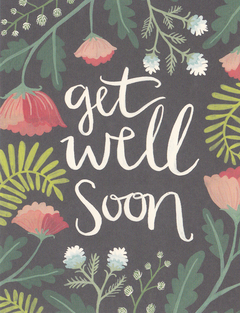 One Canoe Two Greeting Card: Get Well Soon Flowers