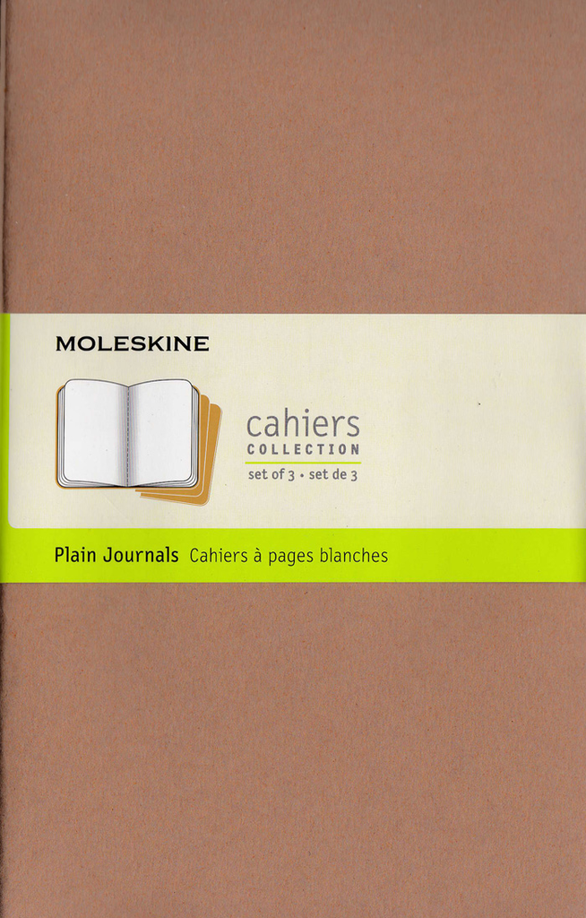 Moleskine Cahier Notebook Set of 3: Large: Plain: Kraft