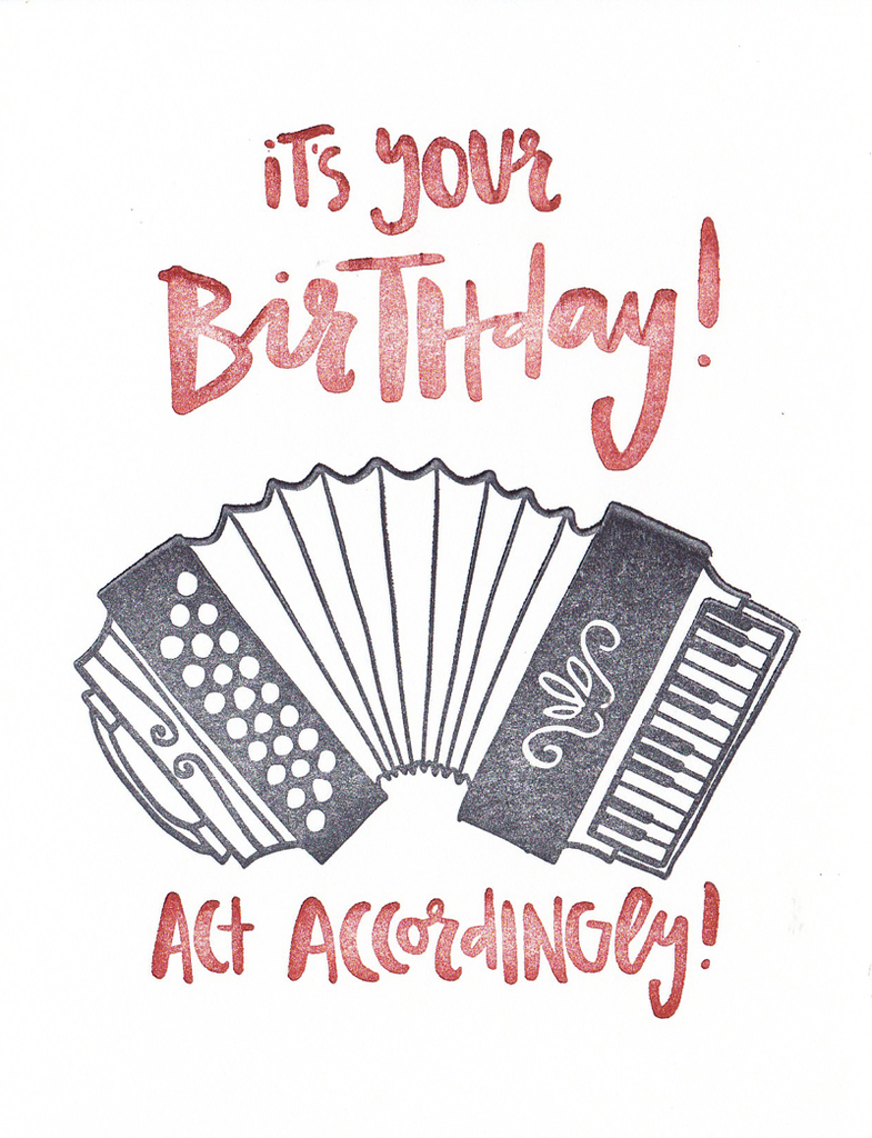 One Canoe Two Greeting Card Accordion Birthday Beautiful Pages