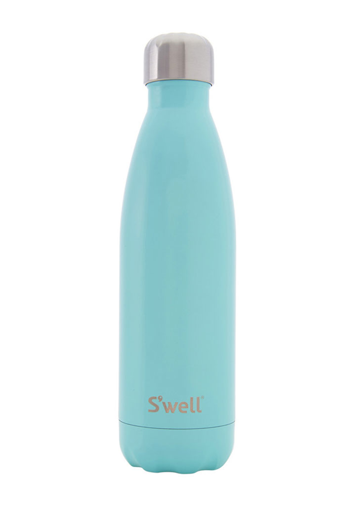 S'Well Satin Collection Insulated Bottle: Turquoise Blue 500ml