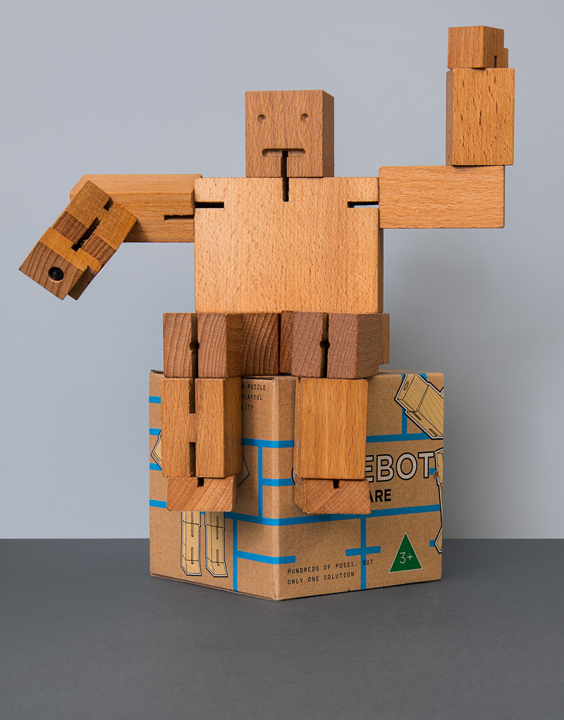 Cubebot Extra Large: Natural (Beech)
