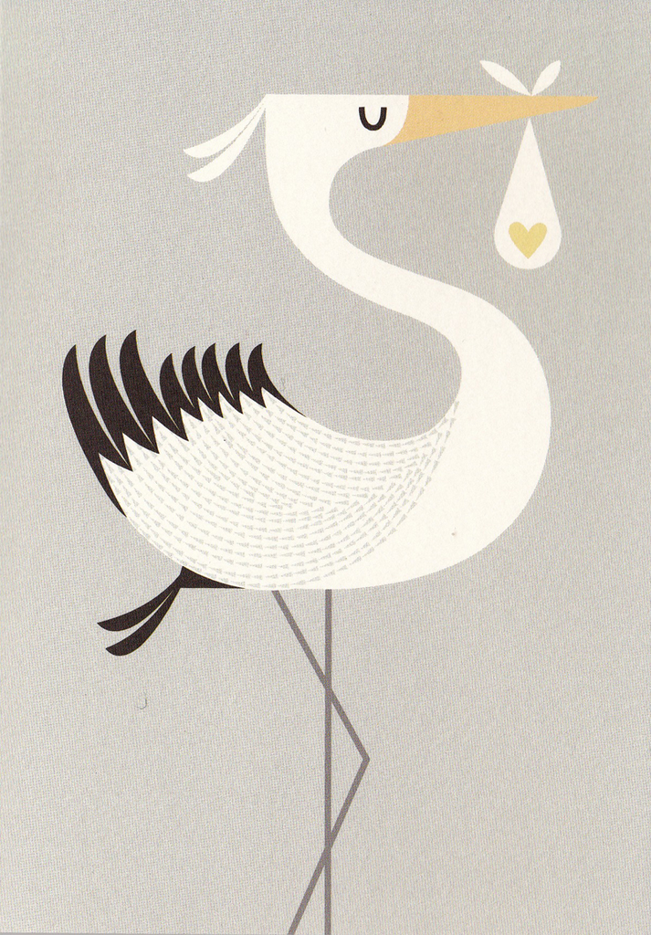 I Ended Up Here Greeting Card: Stork