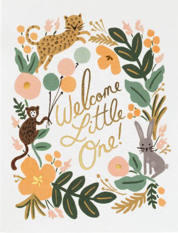 Rifle Paper Co. Greeting Card: Menagerie Baby