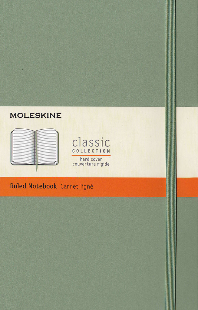 Moleskine Classic Hard Cover Notebook: Large: Ruled: Willow Green