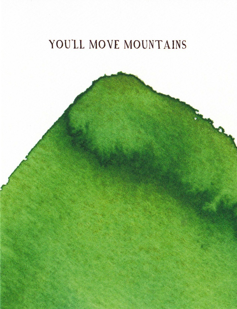 E Frances Greeting Card: You'll Move Mountains