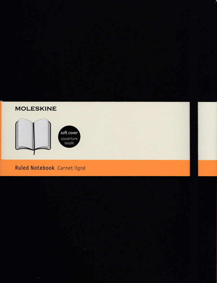 Moleskine Classic Soft Cover Notebook: XLarge: Ruled: Black