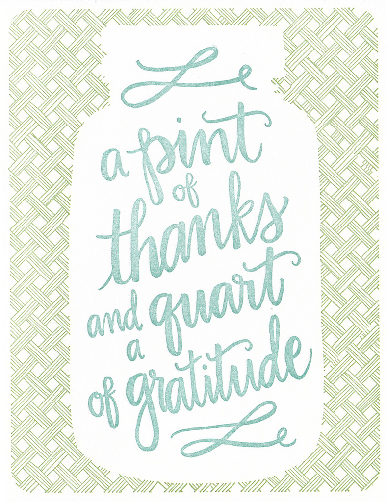 One Canoe Two Greeting Card: A Pint Of Thanks And A Quart Of Gratitude
