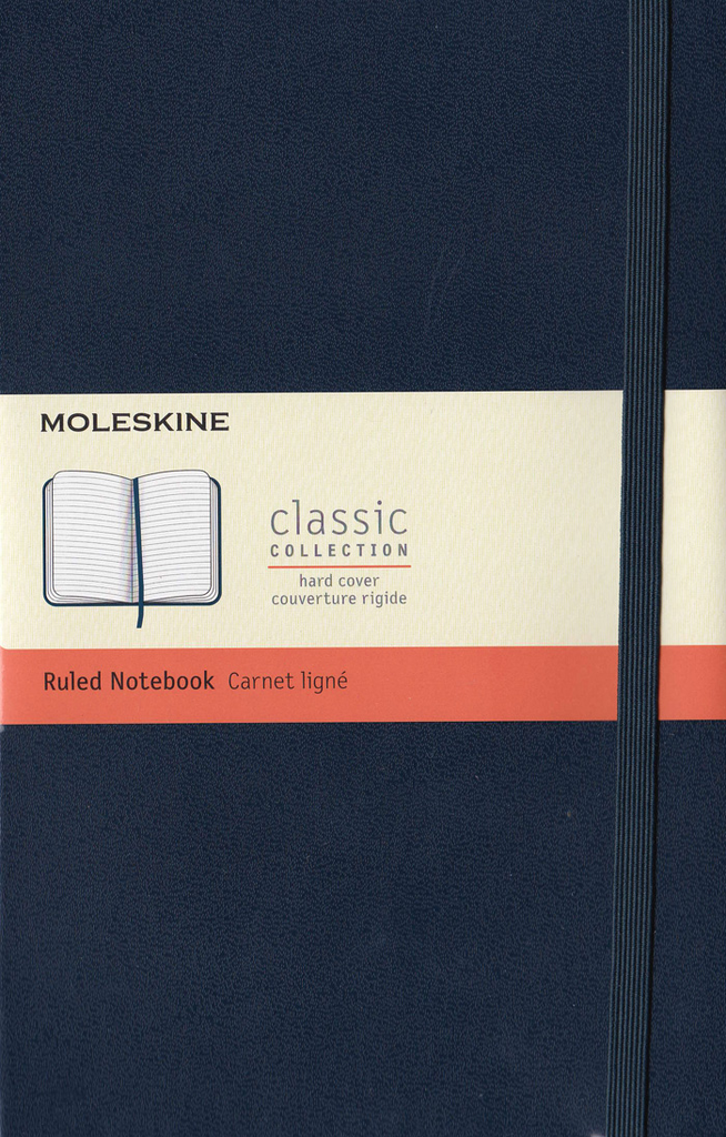 Moleskine Classic Hard Cover Notebook: Large: Ruled: Sapphire Blue