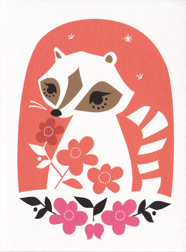 Little Wonder Greeting Card: Raccoon Riddle