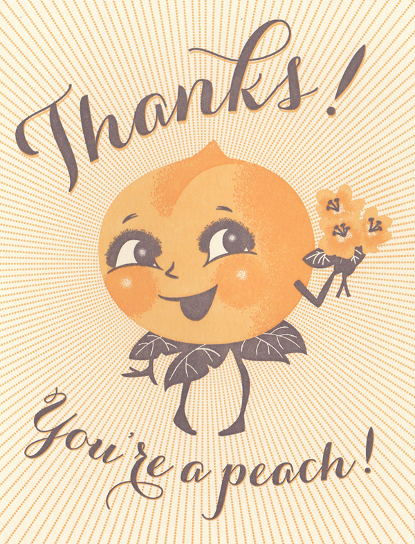 Hello Lucky Greeting Card: You're A Peach
