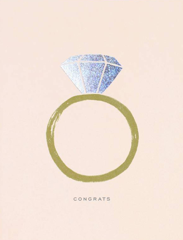 Rifle Paper Co. Greeting Card: Congrats Engagement