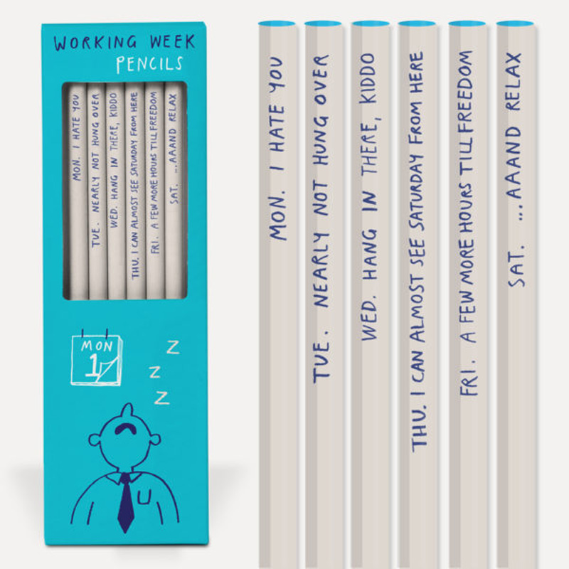 Pencil Set: Sharp & Blunt: Working Week