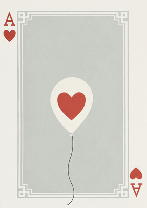 I Ended Up Here Greeting Card: Ace Of Hearts