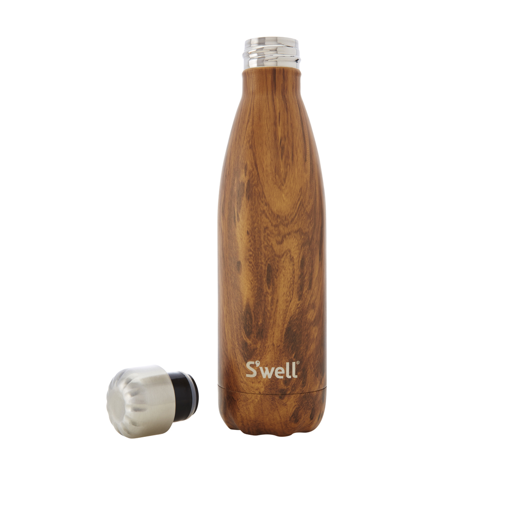 S'Well Wood Collection Insulated Bottle: Teakwood 500ml