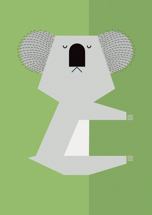 I Ended Up Here Greeting Card: Koala