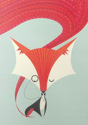 I Ended Up Here Greeting Card: Fantastic Fox