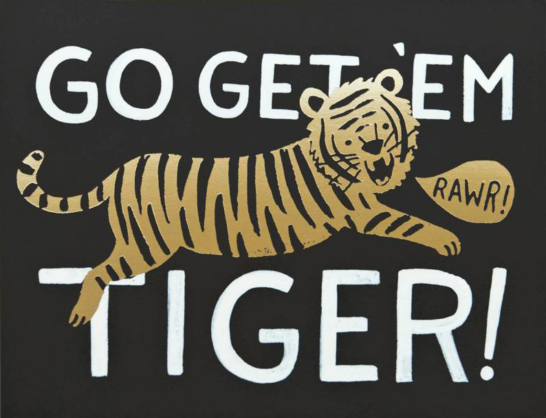 Rifle Paper Co. Greeting Card: Go Get 'Em Tiger