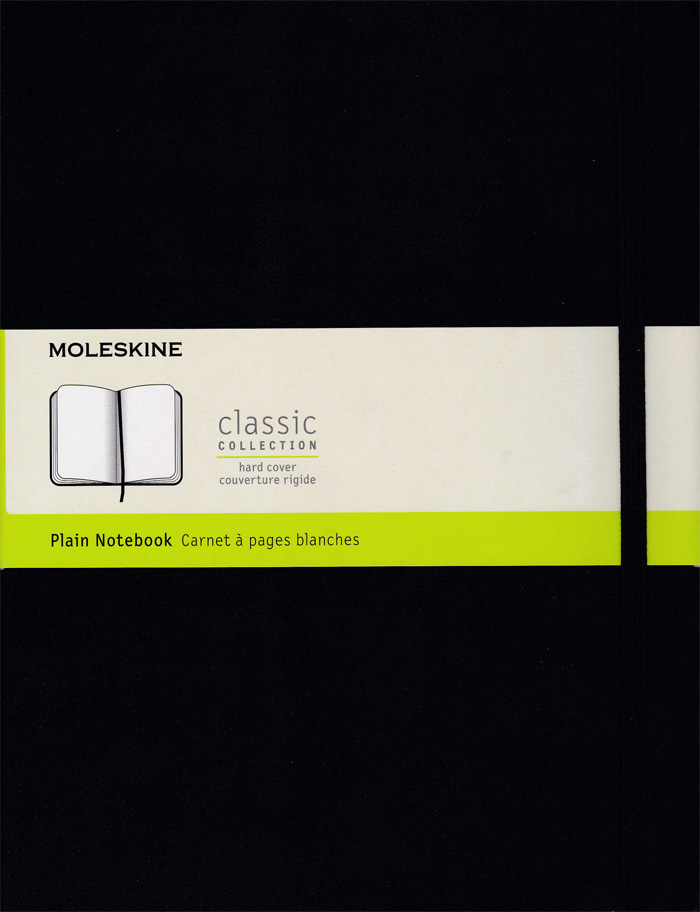 Moleskine Classic Hard Cover Notebook: XLarge: Plain: Black