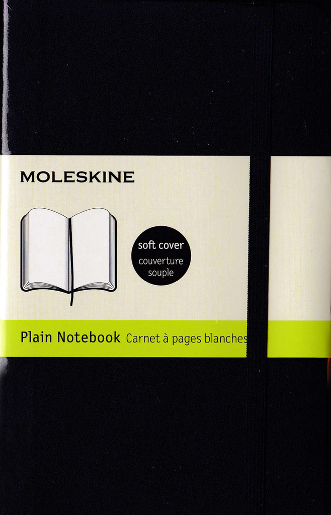 Moleskine Classic Soft Cover Notebook: Pocket: Plain: Black