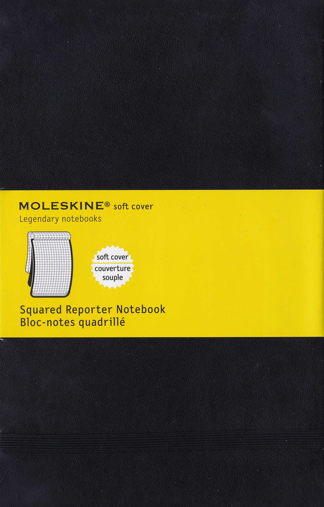 Moleskine Reporter Soft Cover Notebook: Large: Squared: Black