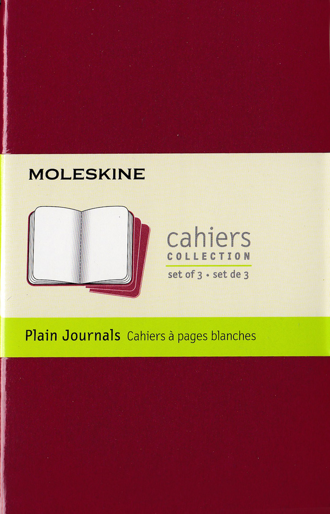 Moleskine Cahier Notebook Set of 3: Pocket: Plain: Red