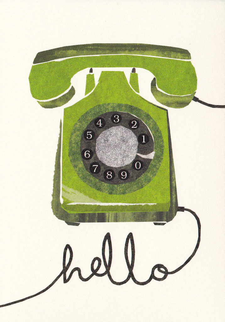 I Ended Up Here Greeting Card: Torn Paper Phone