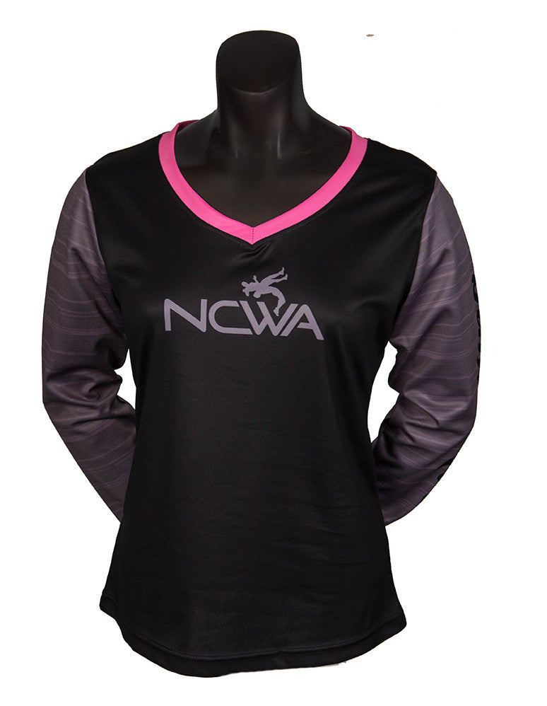 NCWA Gear Ladies Long Sleeve V-Neck (Style LF)