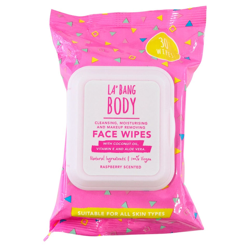 Face Wipes - Cleansing & Moisturising - Raspberry