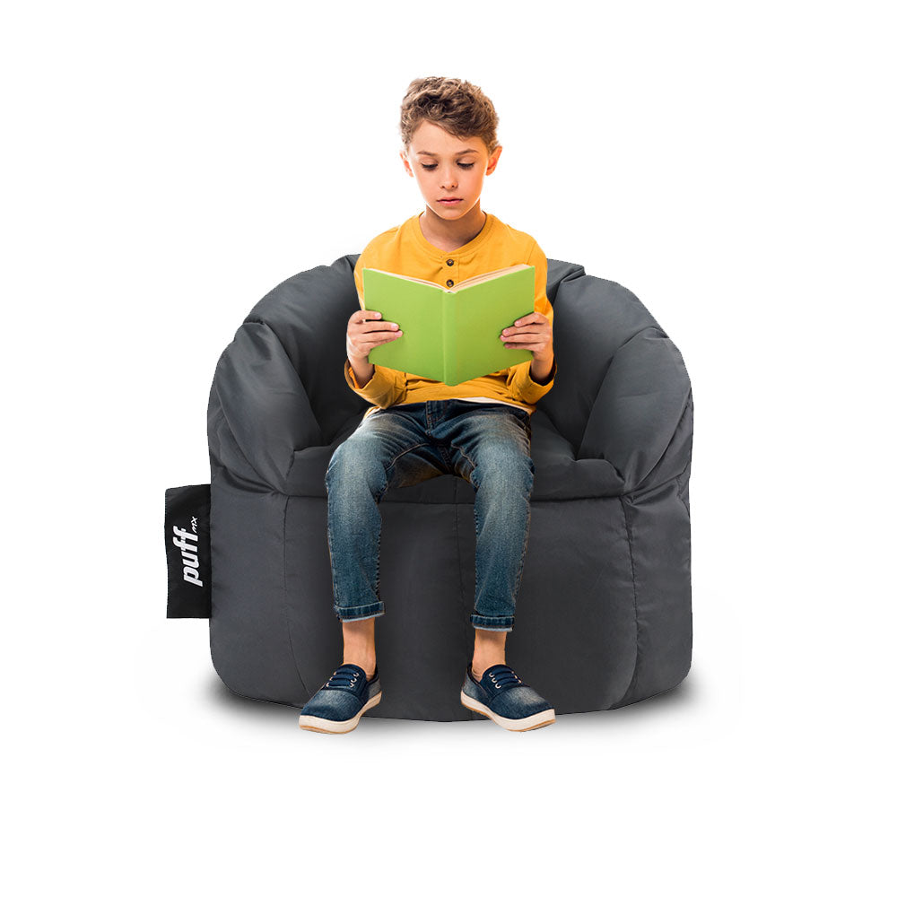 Puff Lounger Kids Gris