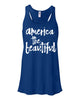 America the Beautiful flowy tank