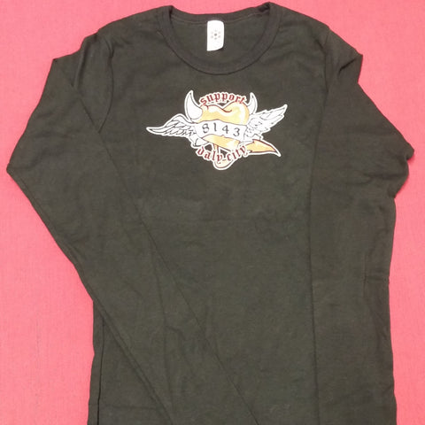Ladies 8143 Heart Long Sleeve Tee