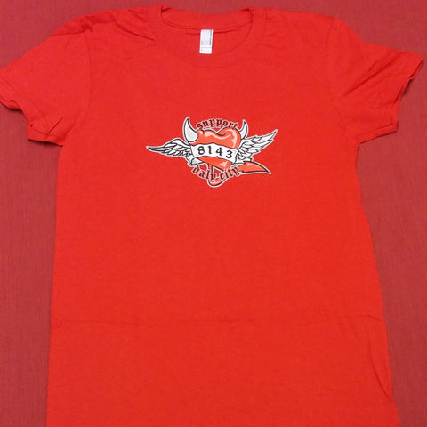 Ladies 8143 Heart Short Sleeve Tee