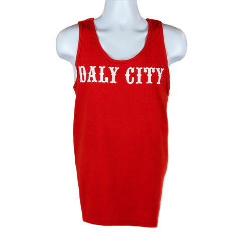 Red Daly City Men's Tank Top