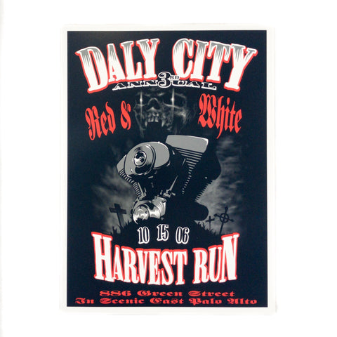 3rd Annual Harvest Run Poster