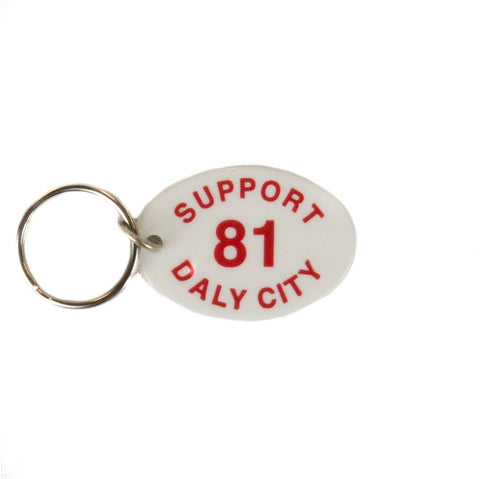Support 81 Daly City Key Chain