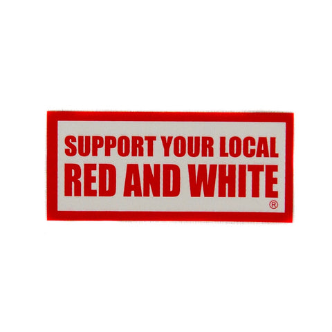 Red & White Support Sticker