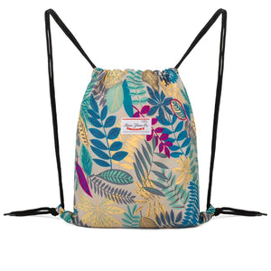Leaf Drawstring Sport Backpack WF6035