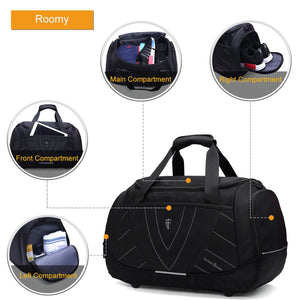 Large capacity V7005 Victoriatourist Duffle Handbags Multi-function Travel Bag for Men and Women Black