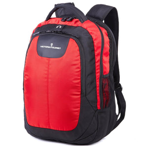 Victoriatourist Laptop College Book Backpack Business Travel Nylon Rucksack Bag Red + Black